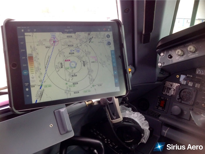 SIRIUS AERO IS CROSSING OVER TO ELECTRONIC FLIGHT BAG